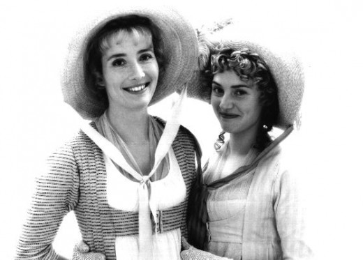 "Emma Thompson and Kate Winslet playing the Dashwood sisters in ""Sense and Sensibility""."