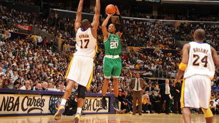 Ray Allen set an NBA Finals Record. examiner.com