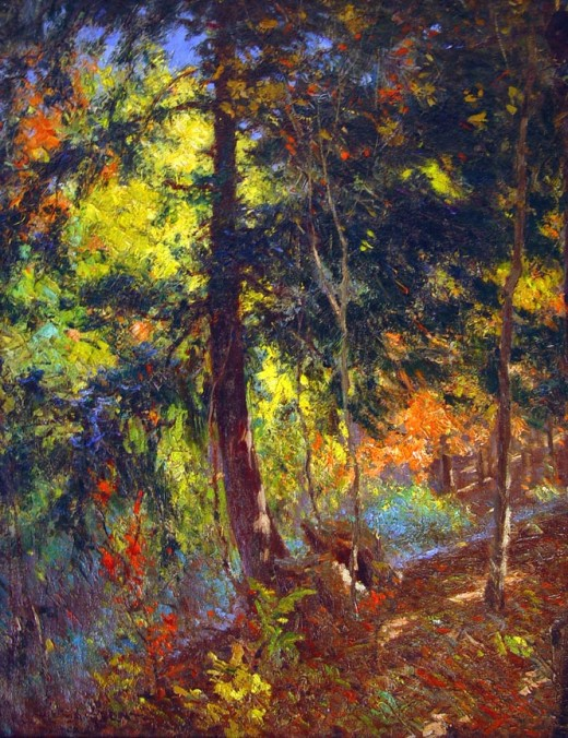 """Deep Woods"" - by Paul Turner Sargent - (1880-1946)"