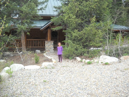 The front of the cabin