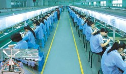 Above: As many as 6 employees have committed suicide at FOXCONN, one of the Chinese firms that produce Apple products, such as the iPhone and iPad.