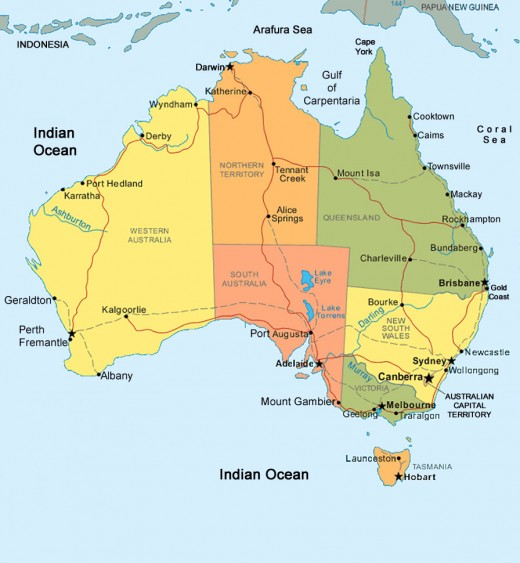 obryadii00 map of australia showing states and territories – Map States Australia