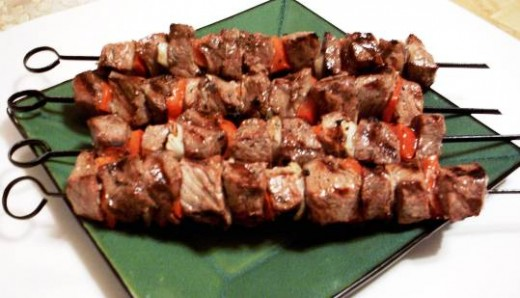Skewer grilled meat