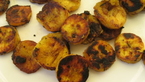 Fried plantain slices / Photo by E. A. Wright