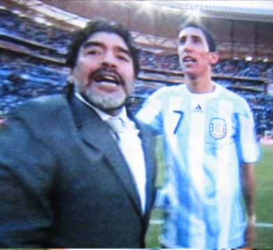 Maradona after the match