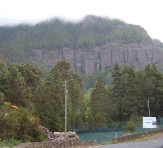 Aguamansa cliffs