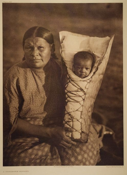 Comanche Mother and Child. Edward S. Curtis (1868 - 1952)