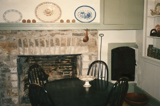 The kitchen in the home where I lived. The Rumford fireplaces dated to 1795.