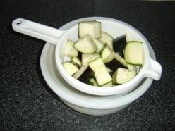 Chopped Aubergine and Courgette