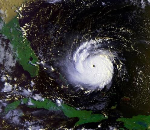 Hurricane Andrew as a Category 5 hurricane.
