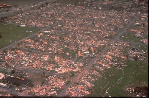 Hurricane Andrew's high winds leveled entire neighborhoods in South Florida.