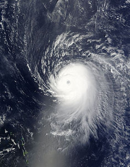 Hurricane Ike as a Category 4 storm.