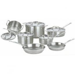 Cuisinart Multiclad Pro 12-piece Stainless Steel Cookware Set