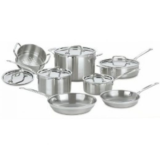 Cuisinart Multiclad Pro 12-piece Stainless Steel Cookware Set