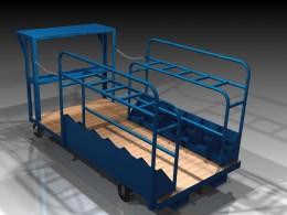 Order picking warehouse cart