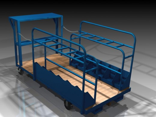 Order picking warehouse cart