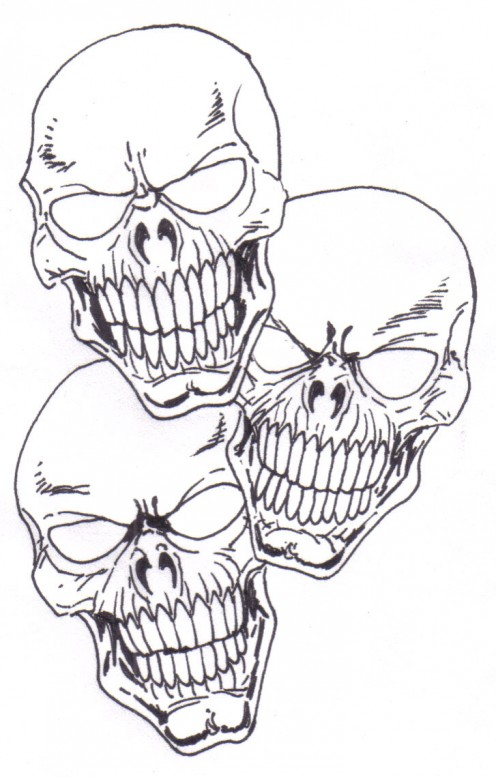 Skull Tattoo Drawing. Learn To