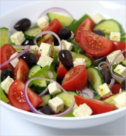 2 Healthy Salads and Creamy Greek Salad Dressing