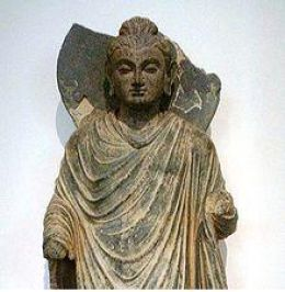 Gautama Buddha, Gandhara was born 563 BCE in Lumbini, Nepal. He died of food Poisoning in 483 BCE at Kushinagar, India.