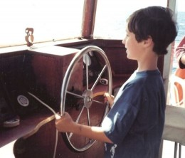 He was even given a wheel on a boat as a BD boy.