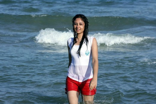 Bhanu - on the beach