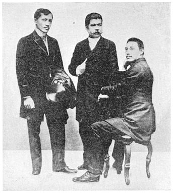 JOSE RIZAL IN GERMANY along with OTHER FILIPINOS -circa 1880s (Photo courtesy of http://www.gutenberg.org/)