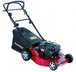 A rotary petrol lawnmower from Mountfield