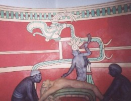 Mayan sacrifice scene