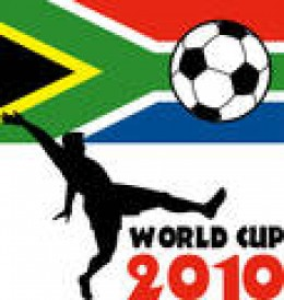 FIFA World Cup 2010 logo with South African flag