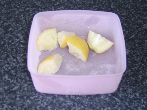 Frozen Lemon Pieces