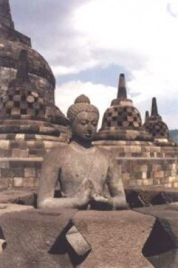 Gautam Buddha statues and stupas