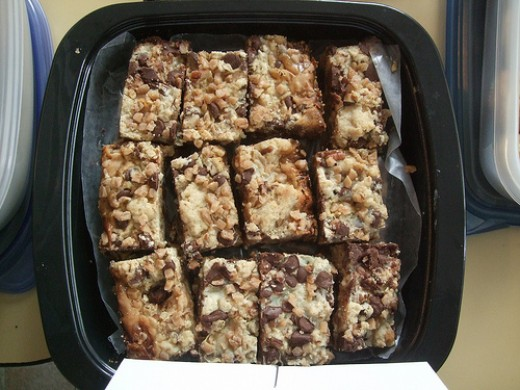 Pan of 7 Layer Bar Cookies