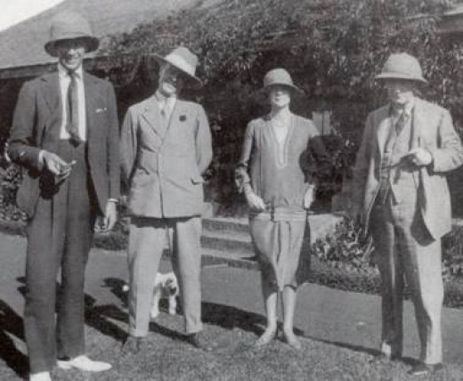 4th right: Lord Dalamere, the 3rd Baron Delamere and one of the finest Kenyan farmers in 1926. Others are (left to right): Raymond de Trafford, Alice de Janz, and Fredric de Janz