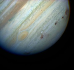 Multiple Impacts From Comet Shoemaker-Levy 9 on Jupiter. Source: Hubblesite.org