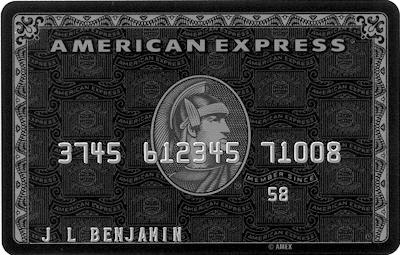 Picture of an American Express black card
