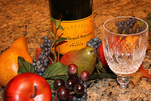 Champagne and fruit are a delicious and healthy combination. Photo:  Jill Clardy, Flickr