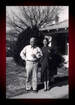 Dad & I, 1948, our house in San Angelo, Texas.