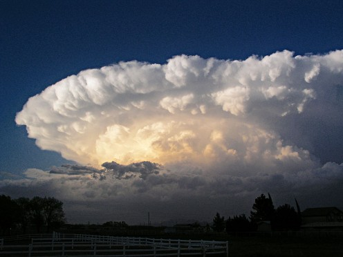 Supercells, such as this one, can spawn violent lightning and tornadoes.