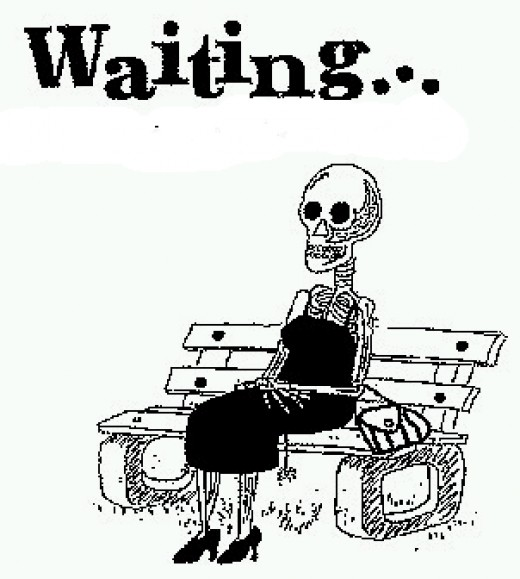 But somehow, in so many time, while waiting, I feel I start to look like this! :(