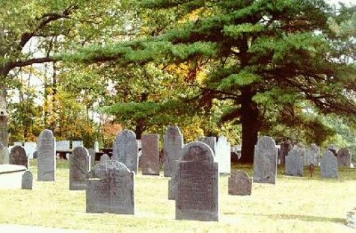 Graveyard In Londonderry New Hampshire.