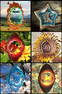 garden metal theme wind spinner spinners