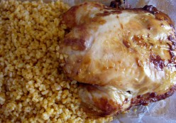 """""""Leftover bulgur pilaf and chicken, a common sight inside a foodkeeper in my fridge.""""  (Photo by Loren Akten)"""