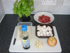 Beef and Cashew Nut Stir Fry Ingredients
