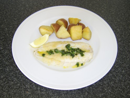 Pan Fried Fillet of Haddock with Lemon and parsley Sauce and Roasted ...