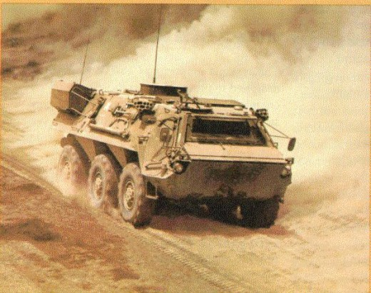German-developed nuclear, biological and chemical reconnaissance vehicle, the Fuchs in German service and the US XM93