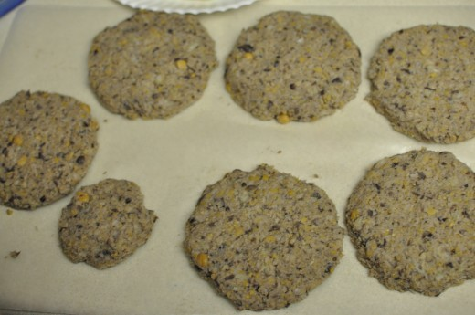 Yield: 6+ large veggie burger patties. Personal photo.