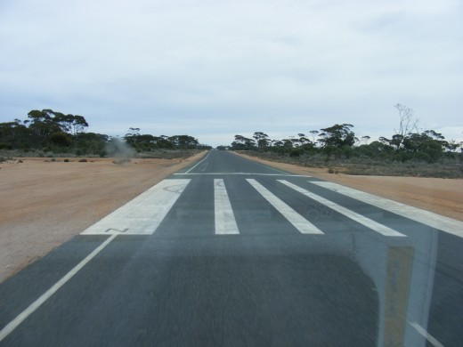 This part of Australia is so remote that they use the Highway as an emergency airstrip for the Royal Flying Doctor Service.