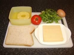 Ingredients for Vegetarian Hawaiian Toast