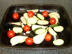 Mediterranean Vegetables on Roasting Tray