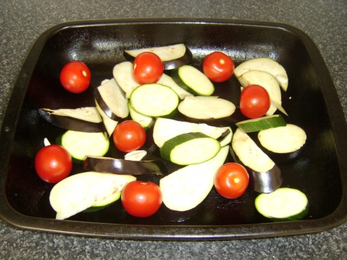 Mediterranean Vegetables on Roasting Tray